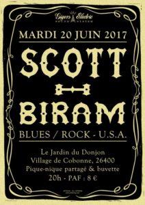 Affiche concert Scott Biram - 2017