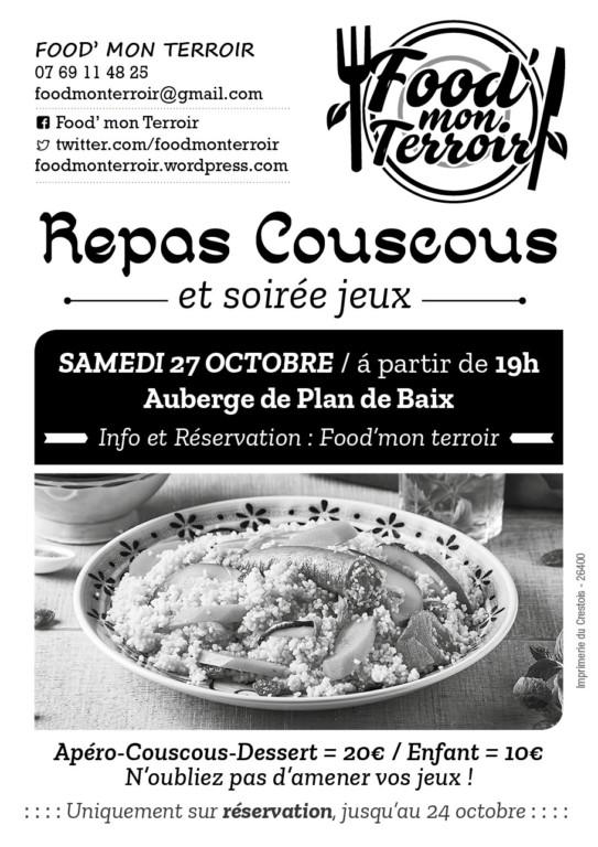Plan de Baix - Repas Couscous et Soirée Jeux @ Salle Associative (ancienne auberge). | Plan-de-Baix | Auvergne-Rhône-Alpes | France