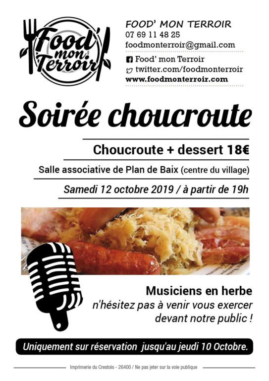 Plan de Baix : Soirée Choucroute le 12 Octobre @ Salla Associative | Plan-de-Baix | Auvergne-Rhône-Alpes | France